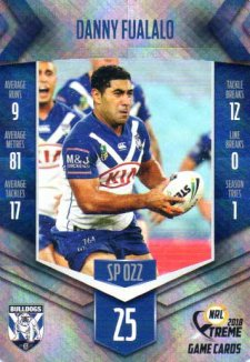 2018 NRL Xtreme Special Parallel SP22 Danny Fualalo Bulldogs