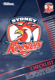2018 NRL Traders 10-Card Base Team Set Sydney Roosters