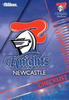 2018 NRL Traders 10-Card Base Team Set Newcastle Knights
