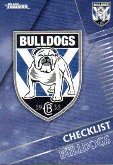 2018 NRL Traders 10-Card Base Team Set Canterbury Bulldogs