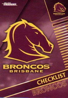 2018 NRL Traders 10-Card Base Team Set Brisbane Broncos