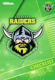 2018 NRL Traders 10-Card Base Team Set Canberra Raiders