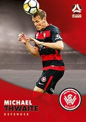 2017/18 Tap N Play FFA Football A-League Soccer Parallel Card 200 Michael Thwaite Wanderers