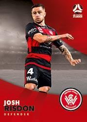 2017/18 Tap N Play FFA Football A-League Soccer Parallel Card 198 Josh Risdon Wanderers