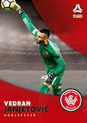 2017/18 Tap N Play FFA Football A-League Soccer Parallel Card 193 Vedran Janjetovic Wanderers