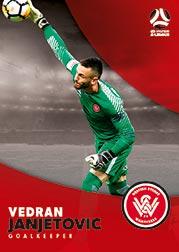 2017/18 Tap N Play FFA Football A-League Soccer Parallel Card 193 Vedran Janjetovic Wanderers
