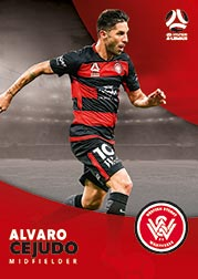 2017/18 Tap N Play FFA Football A-League Soccer Parallel Card 189 Alvaro Cejudo Wanderers
