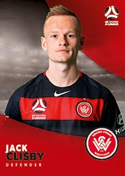 2017/18 Tap N Play FFA Football A-League Soccer Parallel Card 190 Jack Clisby Wanderers