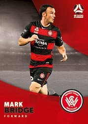 2017/18 Tap N Play FFA Football A-League Soccer Parallel Card 188 Mark Bridge Wanderers