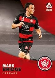 2017/18 Tap N Play FFA Football A-League Soccer Parallel Card 188 Mark Bridge Wanderers