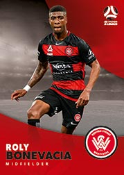 2017/18 Tap N Play FFA Football A-League Soccer Parallel Card 187 Roly Bonevacia Wanderers