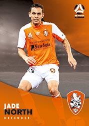 2017/18 Tap N Play FFA Football A-League Soccer Parallel Card 68 Jade North Brisbane Roar