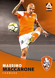 2017/18 Tap N Play FFA Football A-League Soccer Parallel Card 66 Massimo Maccarone Brisbane Roar