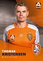 2017/18 Tap N Play FFA Football A-League Soccer Parallel Card 65 Thomas Kristensen Brisbane Roar