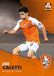 2017/18 Tap N Play FFA Football A-League Soccer Parallel Card 59 Joe Caletti Brisbane Roar