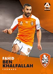 2017/18 Tap N Play FFA Football A-League Soccer Parallel Card 57 Fahid Ben Khalfallah Brisbane Roar
