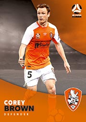 2017/18 Tap N Play FFA Football A-League Soccer Parallel Card 58 Corey Brown Brisbane Roar
