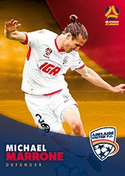 2017/18 Tap N Play FFA Football A-League Soccer Parallel Card 52 Michael Marrone Adelaide United