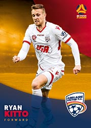 2017/18 Tap N Play FFA Football A-League Soccer Parallel Card 50 Ryan Kitto Adelaide United