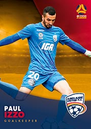 2017/18 Tap N Play FFA Football A-League Soccer Parallel Card 49 Paul Izzo Adelaide United