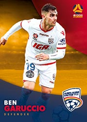2017/18 Tap N Play FFA Football A-League Soccer Parallel Card 46 Ben Garuccio Adelaide United