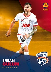 2017/18 Tap N Play FFA Football A-League Soccer Parallel Card 47 Ersan Gulum Adelaide United
