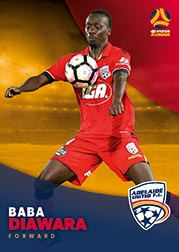 2017/18 Tap N Play FFA Football A-League Soccer Parallel Card 44 Baba Diawara Adelaide United