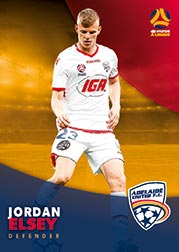 2017/18 Tap N Play FFA Football A-League Soccer Parallel Card 45 Jordan Elsey Adelaide United