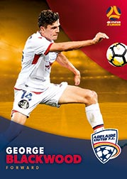 2017/18 Tap N Play FFA Football A-League Soccer Parallel Card 43 George Blackwood Adelaide United