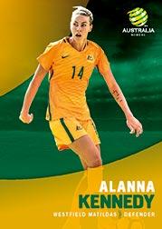 2017/18 Tap N Play FFA Football A-League Soccer Parallel Card 33 Alanna Kennedy Matildas