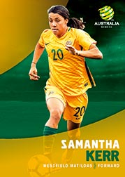 2017/18 Tap N Play FFA Football A-League Soccer Parallel Card 34 Samantha Kerr Matildas
