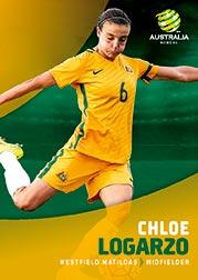 2017/18 Tap N Play FFA Football A-League Soccer Parallel Card 35 Chloe Logarzo Matildas
