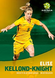 2017/18 Tap N Play FFA Football A-League Soccer Parallel Card 32 Elise Kellond-Knight Matildas