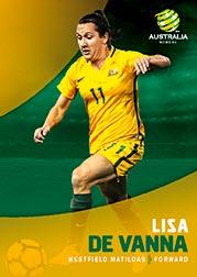 2017/18 Tap N Play FFA Football A-League Soccer Parallel Card 28 Lisa De Vanna Matildas