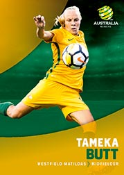 2017/18 Tap N Play FFA Football A-League Soccer Parallel Card 24 Tameka Butt Matildas