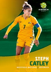 2017/18 Tap N Play FFA Football A-League Soccer Parallel Card 26 Steph Catley Matildas