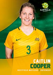 2017/18 Tap N Play FFA Football A-League Soccer Parallel Card 27 Caitlin Cooper Matildas