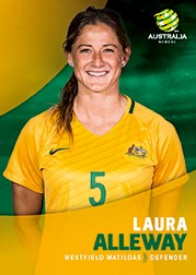 2017/18 Tap N Play FFA Football A-League Soccer Parallel Card 21 Laura Alleway Matildas