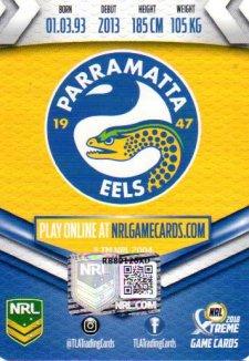 2018 NRL Xtreme Signature Card Nathan Brown Eels