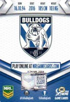 2018 NRL Xtreme Signature Card Adam Elliott Bulldogs