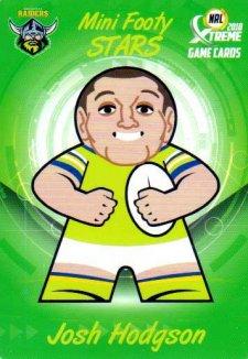 2018 NRL Xtreme Mini Footy Stars MFS4 Josh Hodgson Raiders