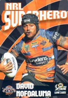 2018 NRL Xtreme Superhero SH32 David Nofoaluma Tigers