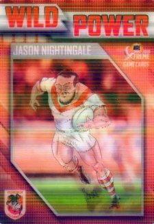 2018 NRL Xtreme Wild Power WP13 Jason Nightingale Dragons