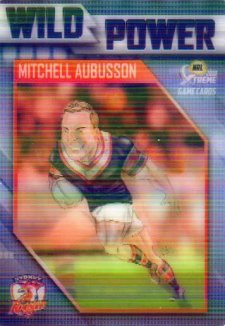2018 NRL Xtreme Wild Power WP14 Mitchell Aubusson Roosters