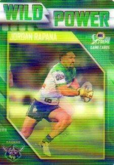 2018 NRL Xtreme Wild Power WP2 Jordan Rapana Raiders