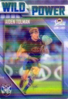 2018 NRL Xtreme Wild Power WP3 Aiden Tolman Bulldogs