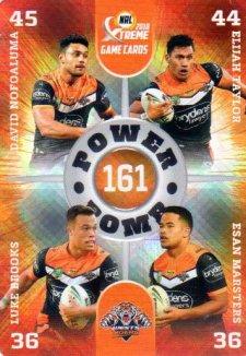 2018 NRL Xtreme Power Bomb PB16 Wests Tigers