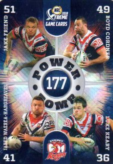 2018 NRL Xtreme Power Bomb PB14 Sydney Roosters