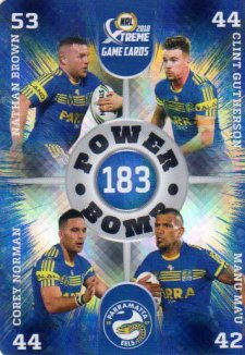 2018 NRL Xtreme Power Bomb PB10 Parramatta Eels