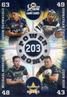 2018 NRL Xtreme Power Bomb PB9 North Queensland Cowboys